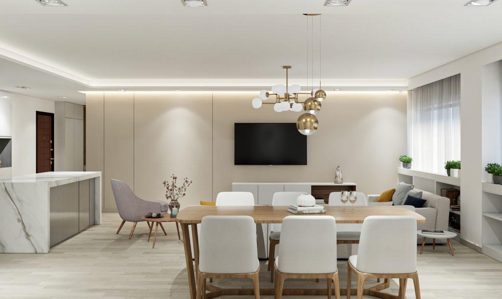 طراحی داخلی پذیرایی پروزه اکباتان شرکت مهندسی تُکا