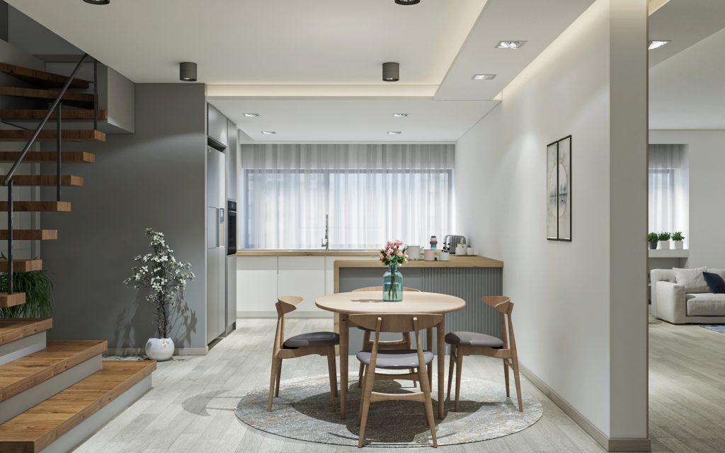 طراحی داخلی آشپزخانه پروزه اکباتان شرکت مهندسی تُکا