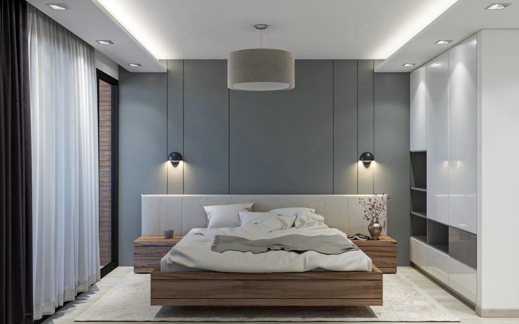 طراحی داخلی اتاق خواب پروزه اکباتان شرکت مهندسی تُکا