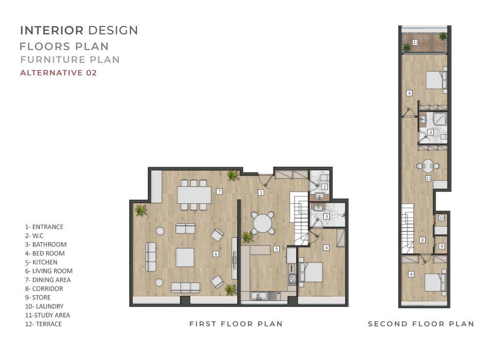 طراحی داخلی پلان پروزه اکباتان شرکت مهندسی تُکا